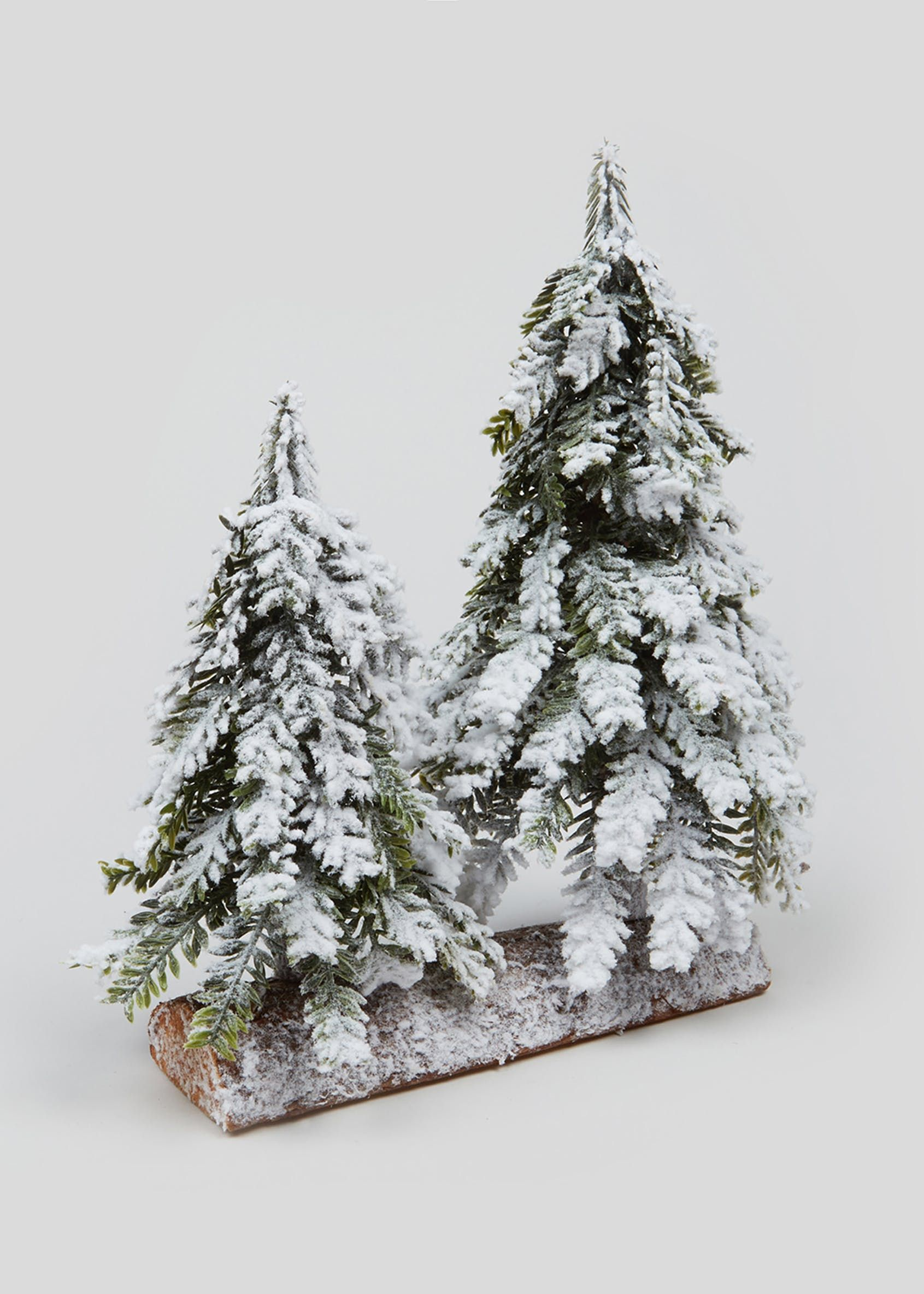 Mini Snowy Christmas Tree Ornament 27cm X 14cm White Snowy Christmas Tree Christmas Tree Christmas Tree Ornaments