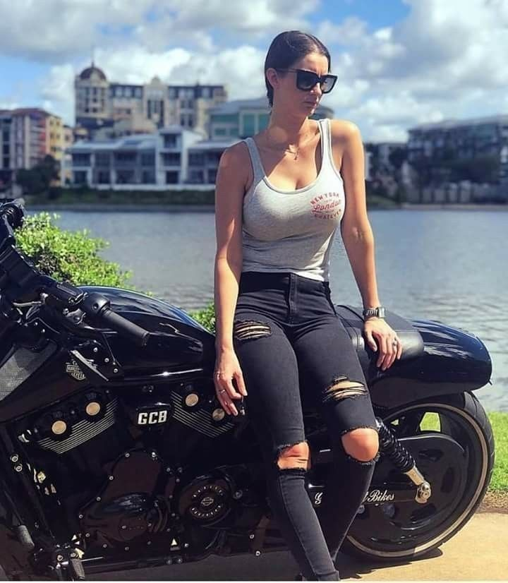 – motorcycle girl – # girl #motorcycle #notitle –  #girl #Motorcycle #notitle