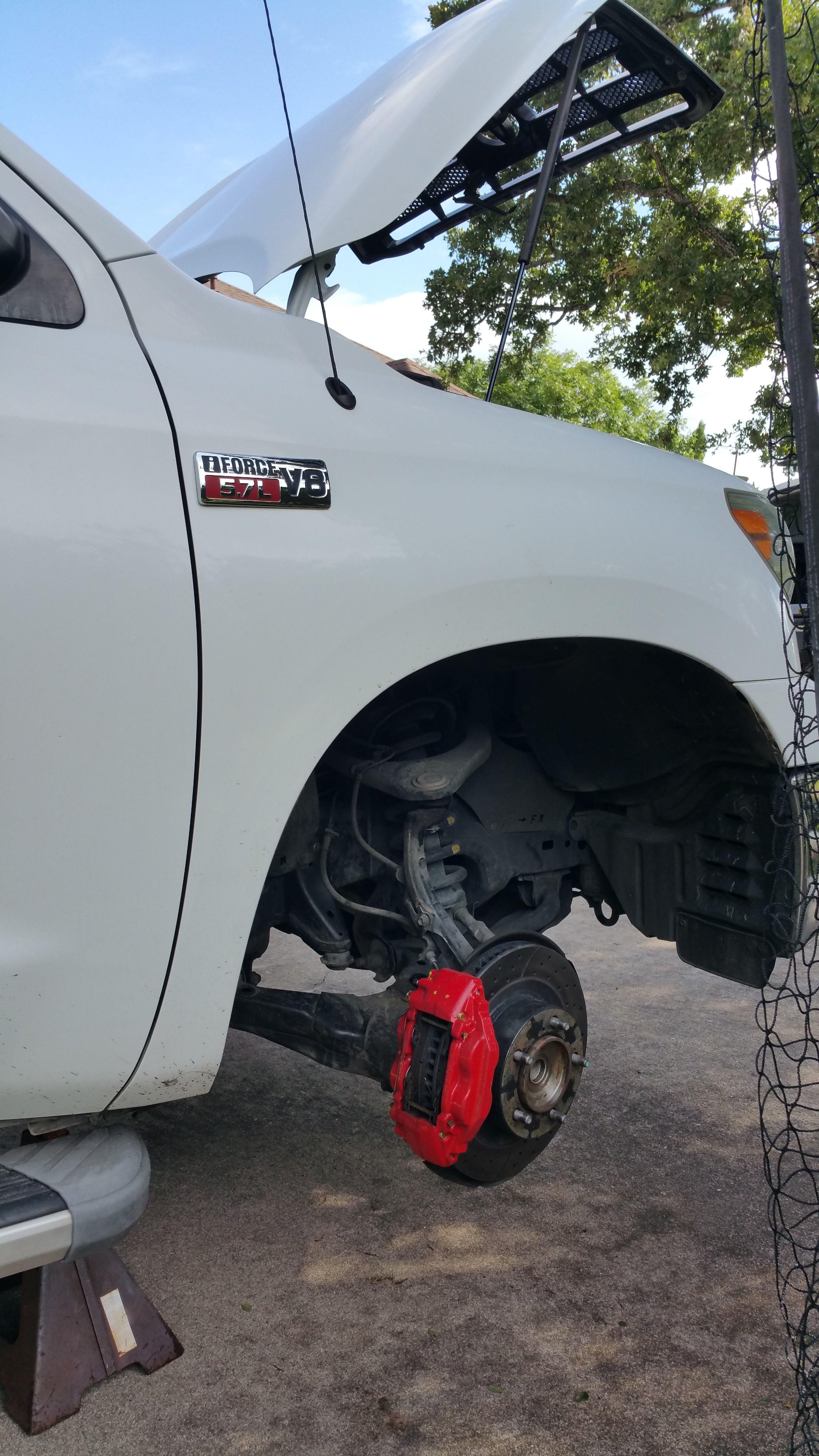 Diy Thanks To Https Www Puretundra Com Brake Pads And Rotors Tundra Accessories Black Rhino Wheels