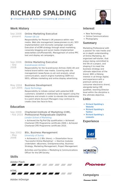 Interest For Resume Image Result For Digital Marketing Executive Resume  Resume .