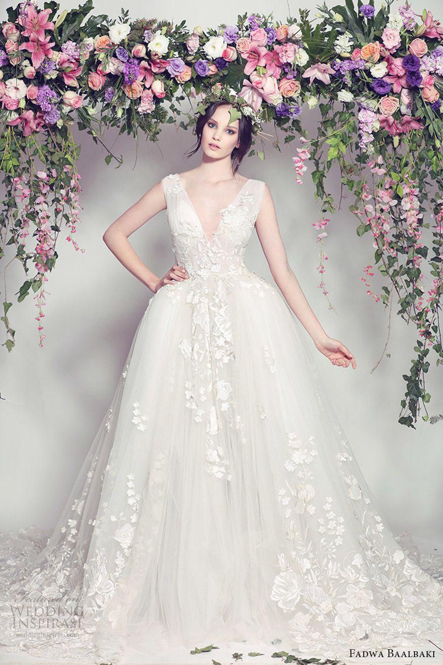 Fadwa Baalbaki Spring Summer 2016 Fleur Bleue Couture Collection Dress StylesBall Gown WeddingWedding