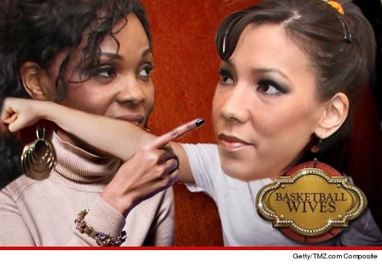 """Basketball Wives"""" stars Suzie Ketcham and Kenya Bell got into an all out physical brawl on set last week"""