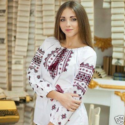 blouse sorochka vyshyvanka Ukrainian handmade embroidered shirt for ladies