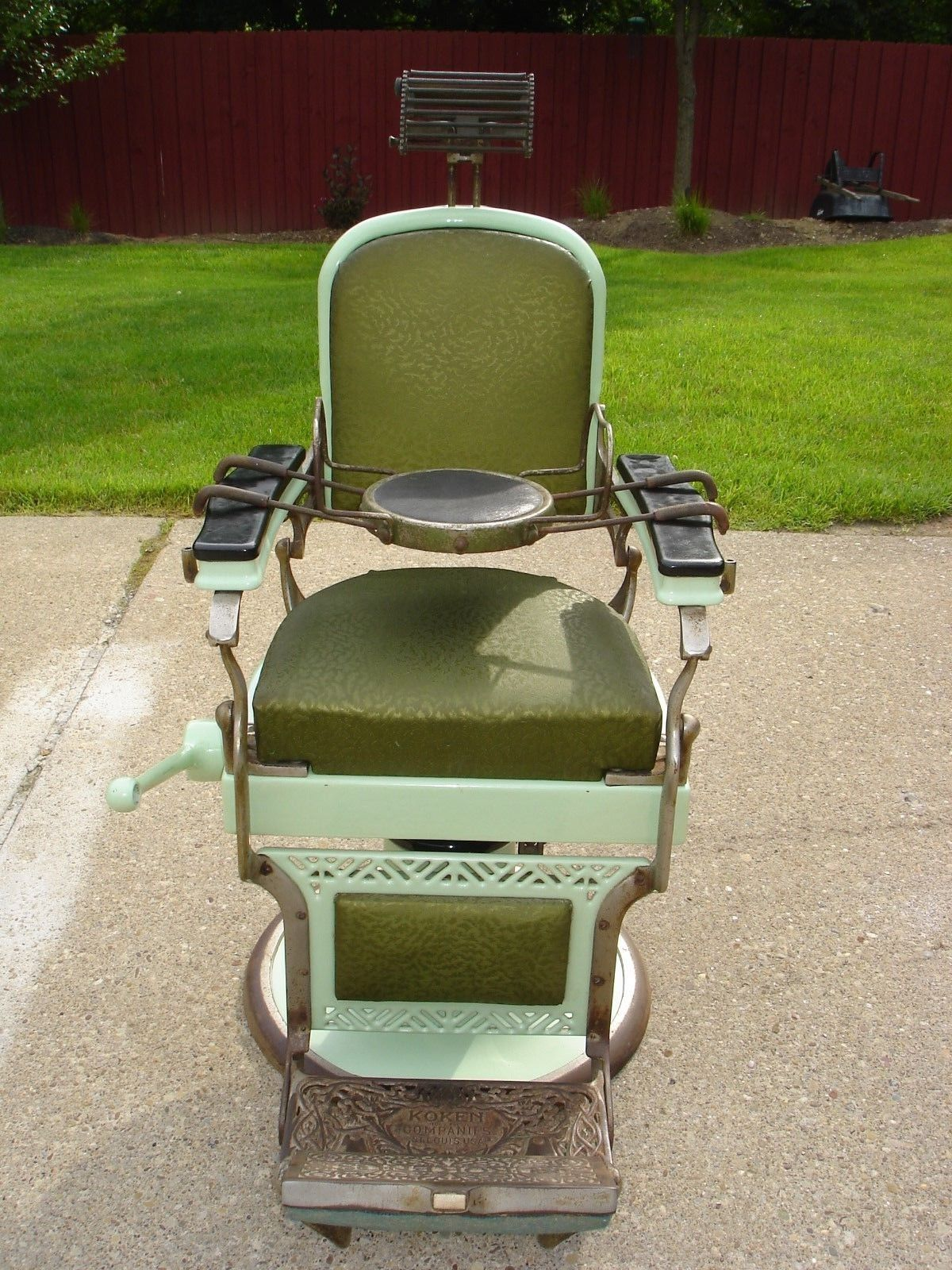 beauty green koken porcelain chair props accessories barber
