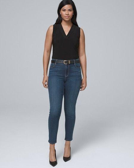 ed695cc9865 Women's Curvy-Fit High-Rise Sculpt Fit Skinny Crop Jeans by White House  Black Market