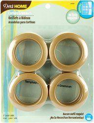 Dritz 1 9 16 Inch Inner Diameter Curtain Grommets 8 Pack Brass