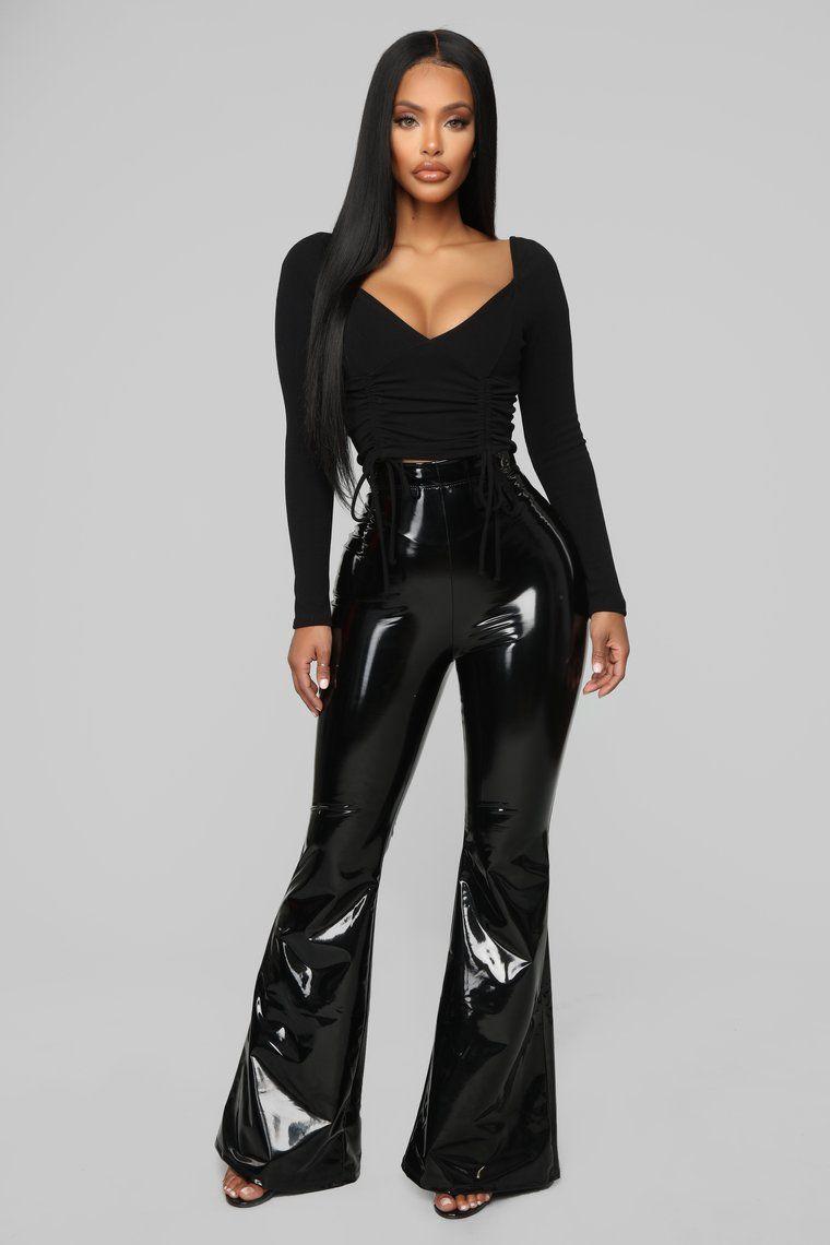 35969a49e87cf Wild Baby Vinyl Pants - Black in 2019   Outfits   Black pants, Black ...