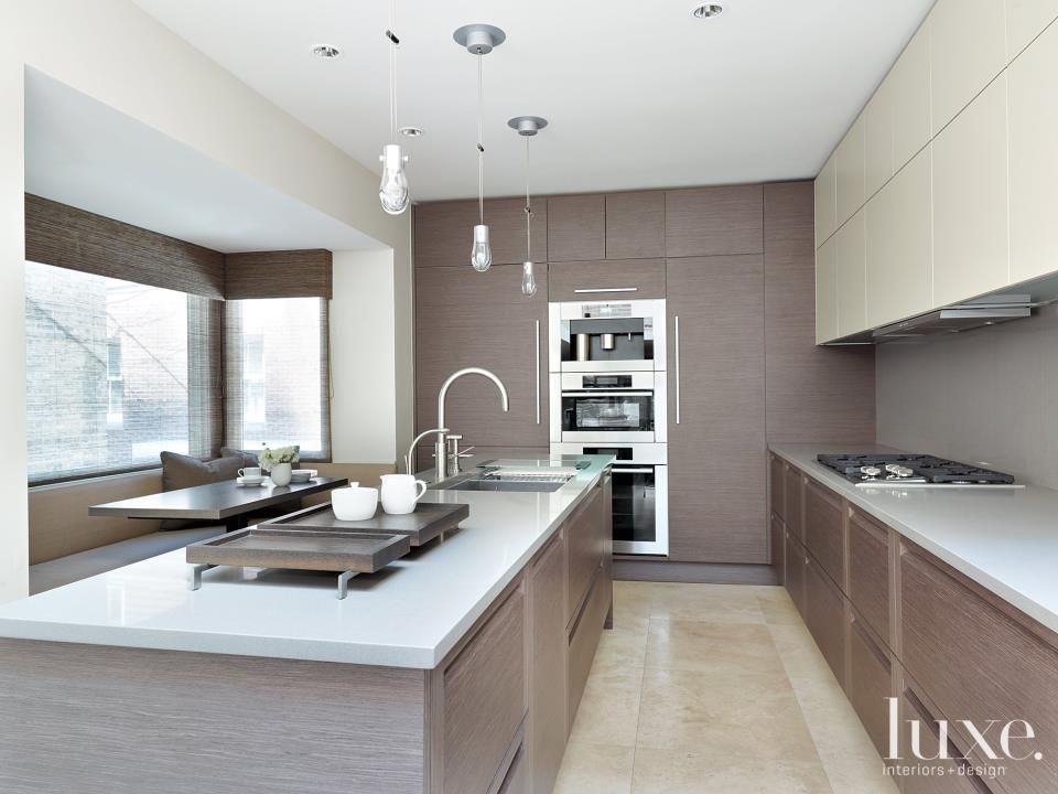 contemporary nude kitchen