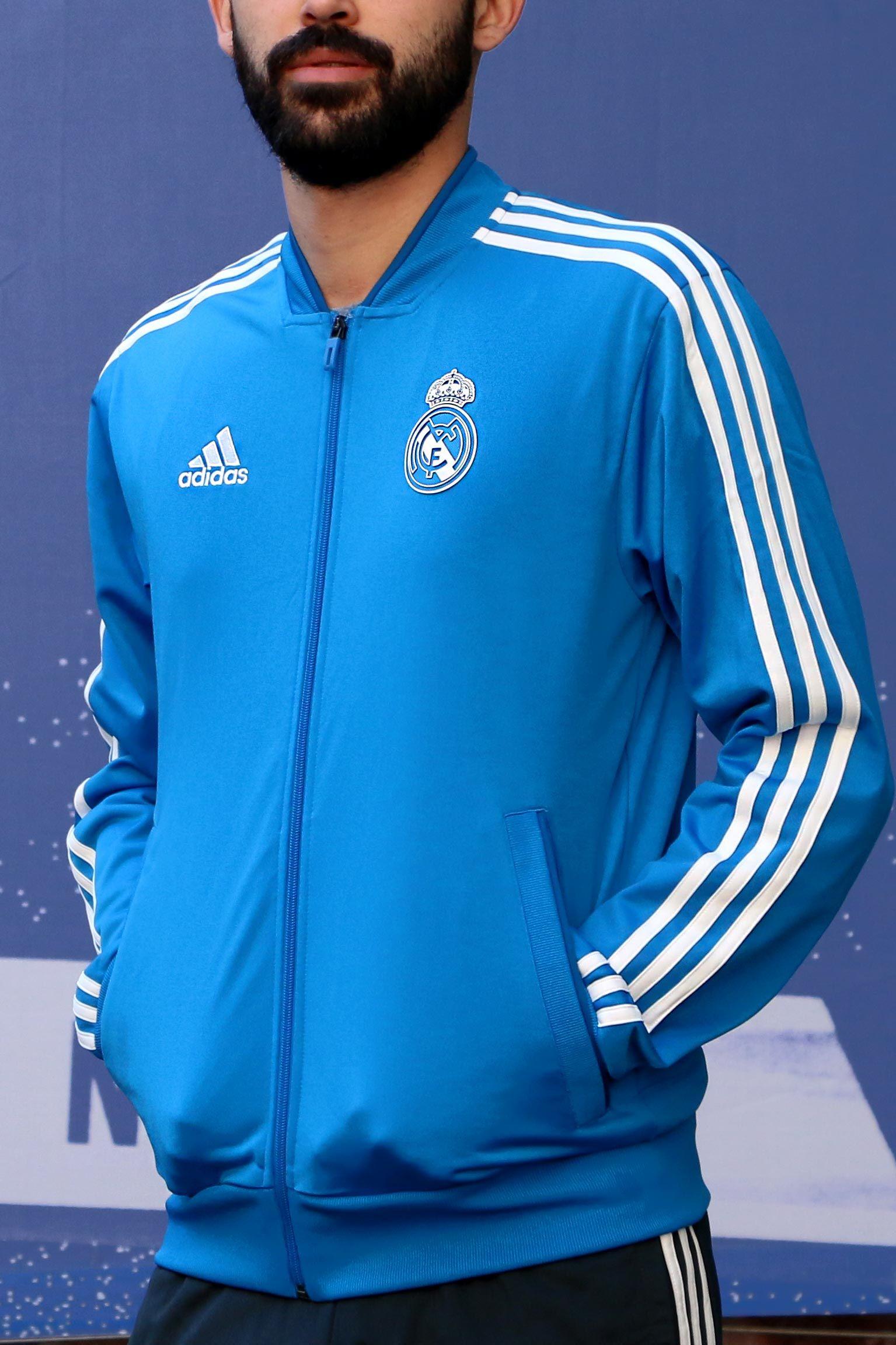 Conjunto de chándal Real Madrid 2018 2019 - azul celeste y negro  adidas   realmadrid cdb9543dc09