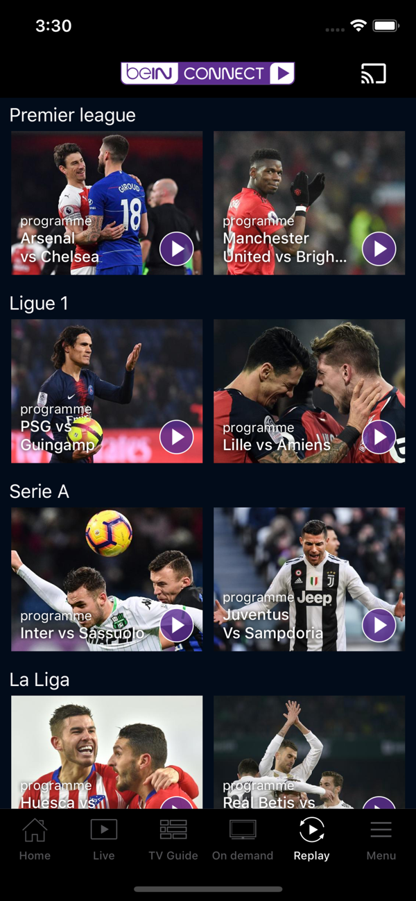 Bein Connect On The App Store Futbol En Vivo Futbol