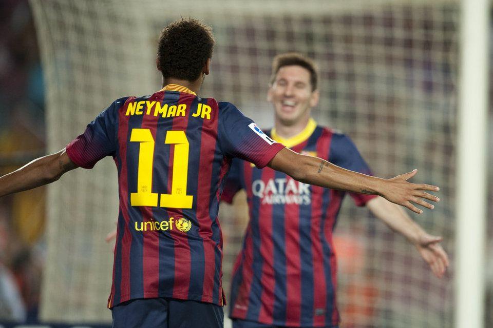 Messi y Neymar ya conectan