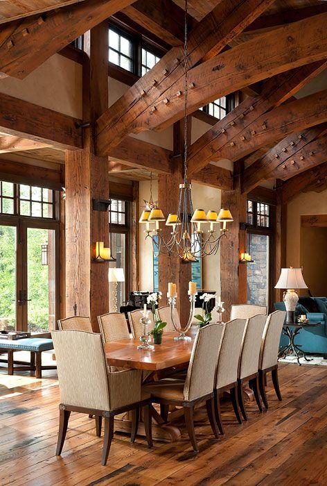Rustic Lake House Interiors: Hybrid Heaven: A Montana Custom Home