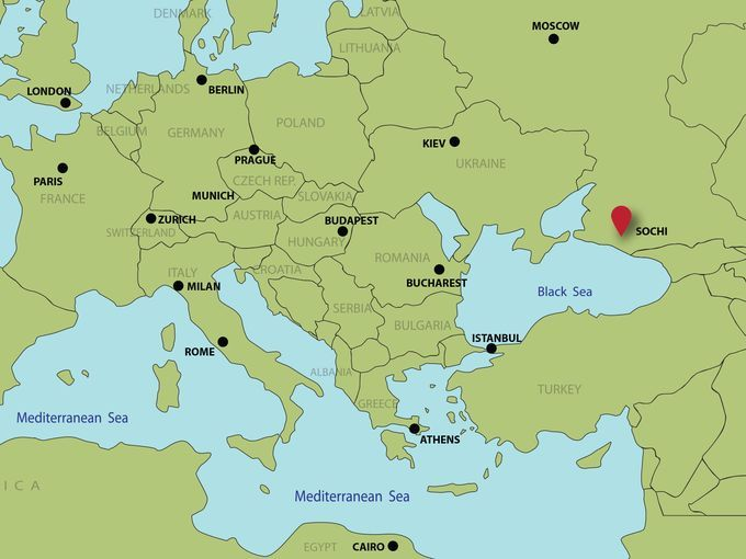 Where In The World Is Sochi Geography Social Studies And School - Sochi map