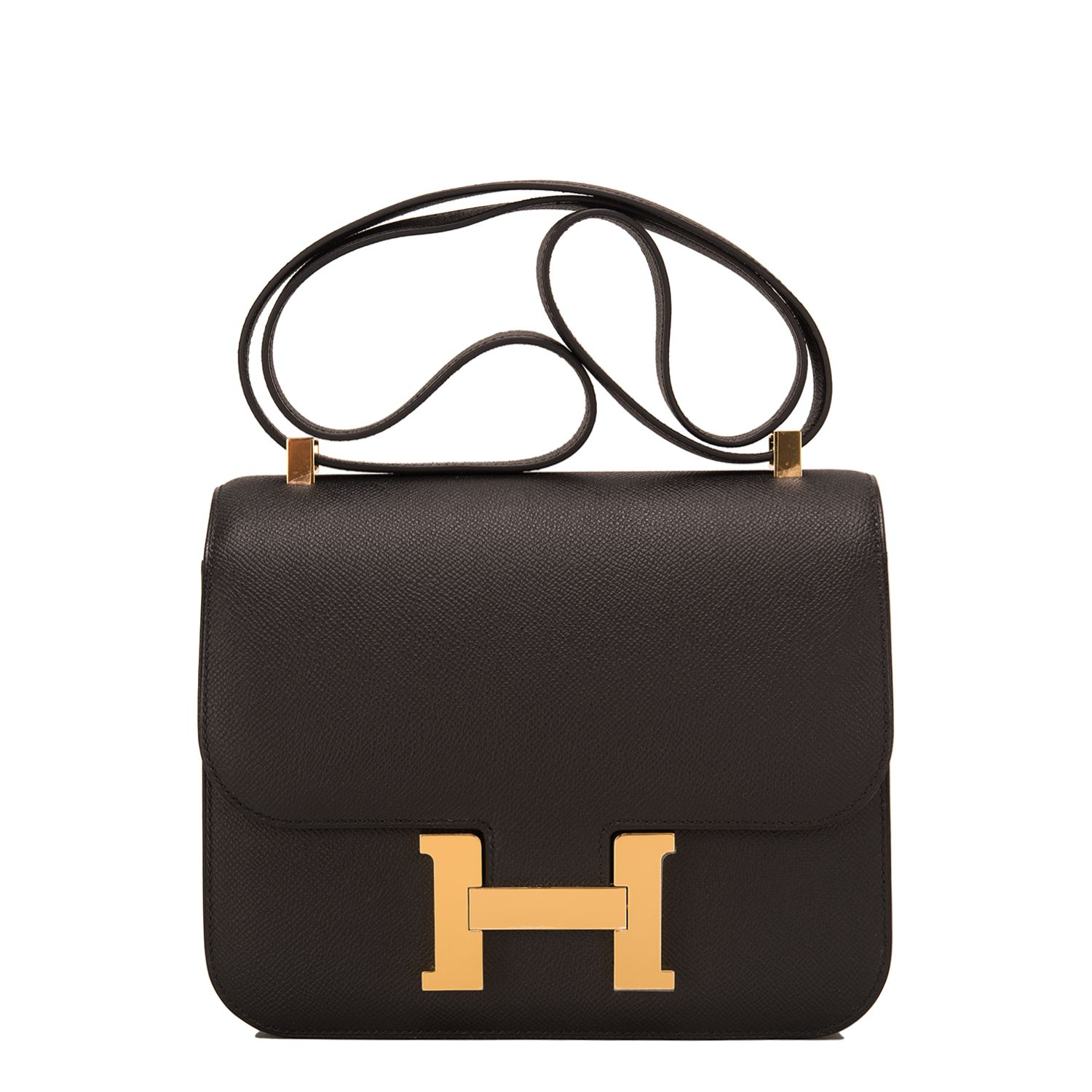 8f4397d94001 Hermes Constance  Bag Black Epsom Gold Hardware