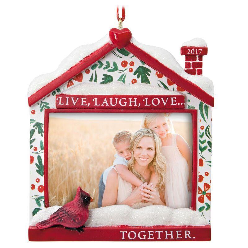 Live Laugh Love 2017 Picture Frame Hallmark Ornament Picture