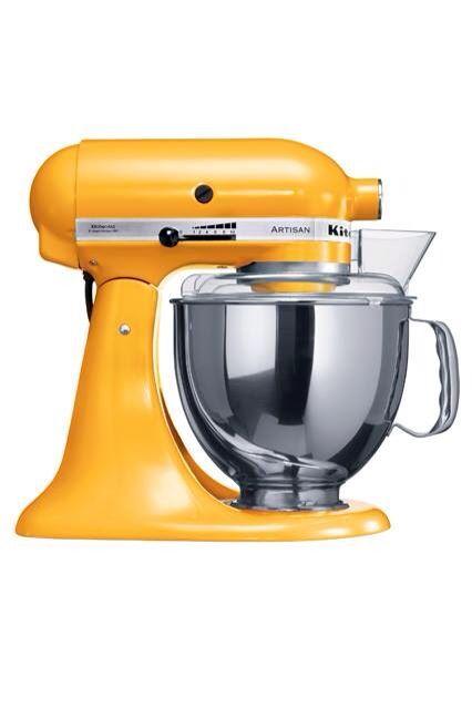 Yellow kitchen aid For the Home Pinterest Kitchens - kitchenaid küchenmaschine artisan rot