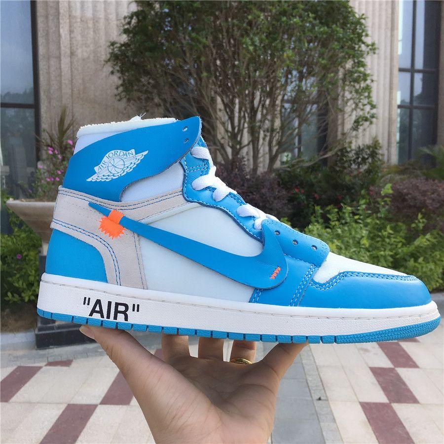 Off-White x Air Jordan 1 UNC Powder Blue AQ0818-148  bc7948850