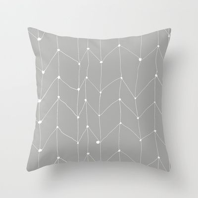 Zig Zag 1 Throw Pillow by Cecilia Andersson - $20.00