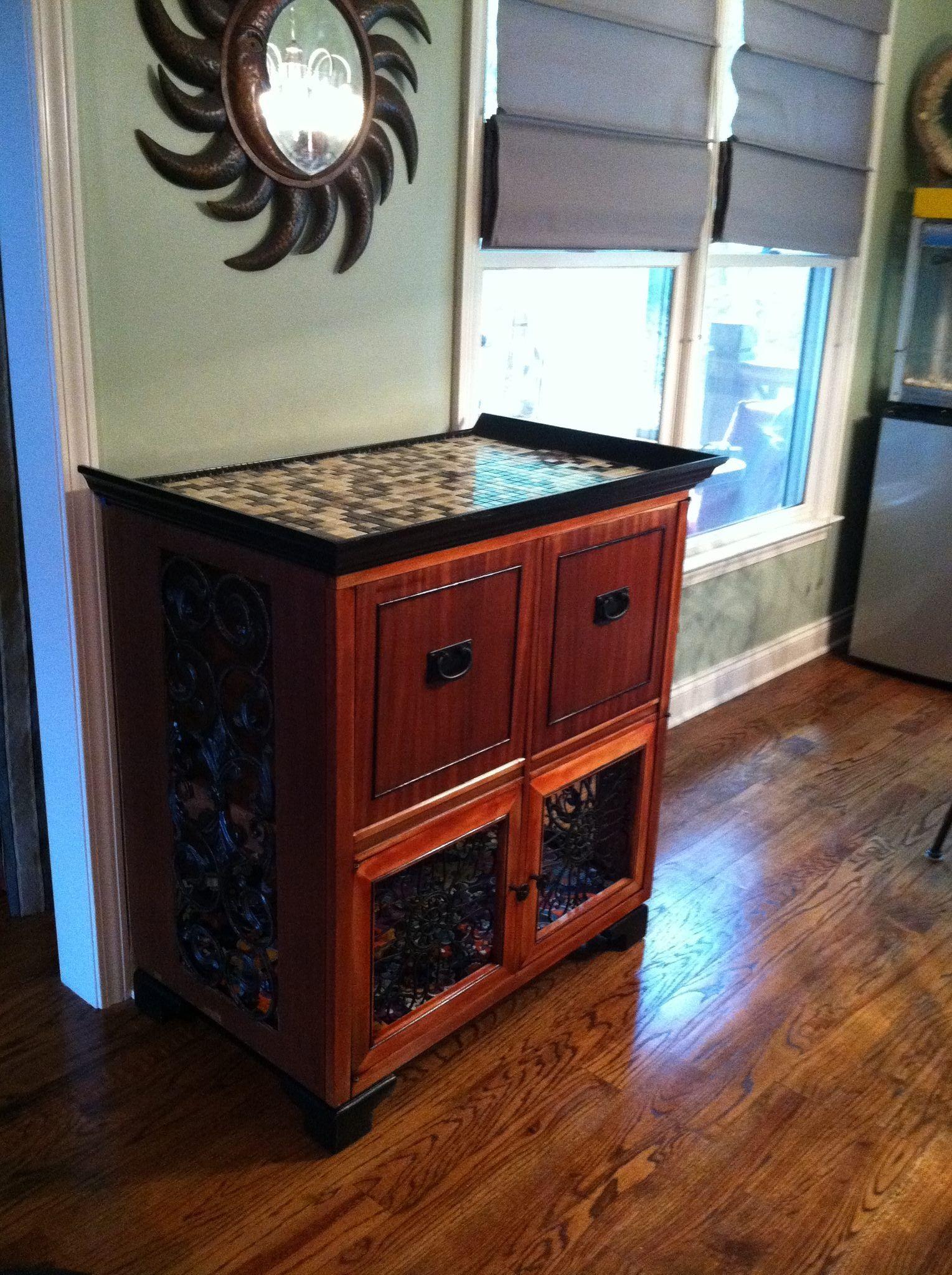 Captivating Repurposed 1950u0027s TV Cabinet As An Elegant Dog Kennel