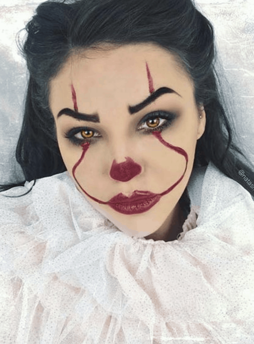 13 Easy Halloween Makeup Ideas To Try An Unblurred Lady In 2020 Halloween Makeup Clown Halloween Makeup Looks Cute Halloween Makeup