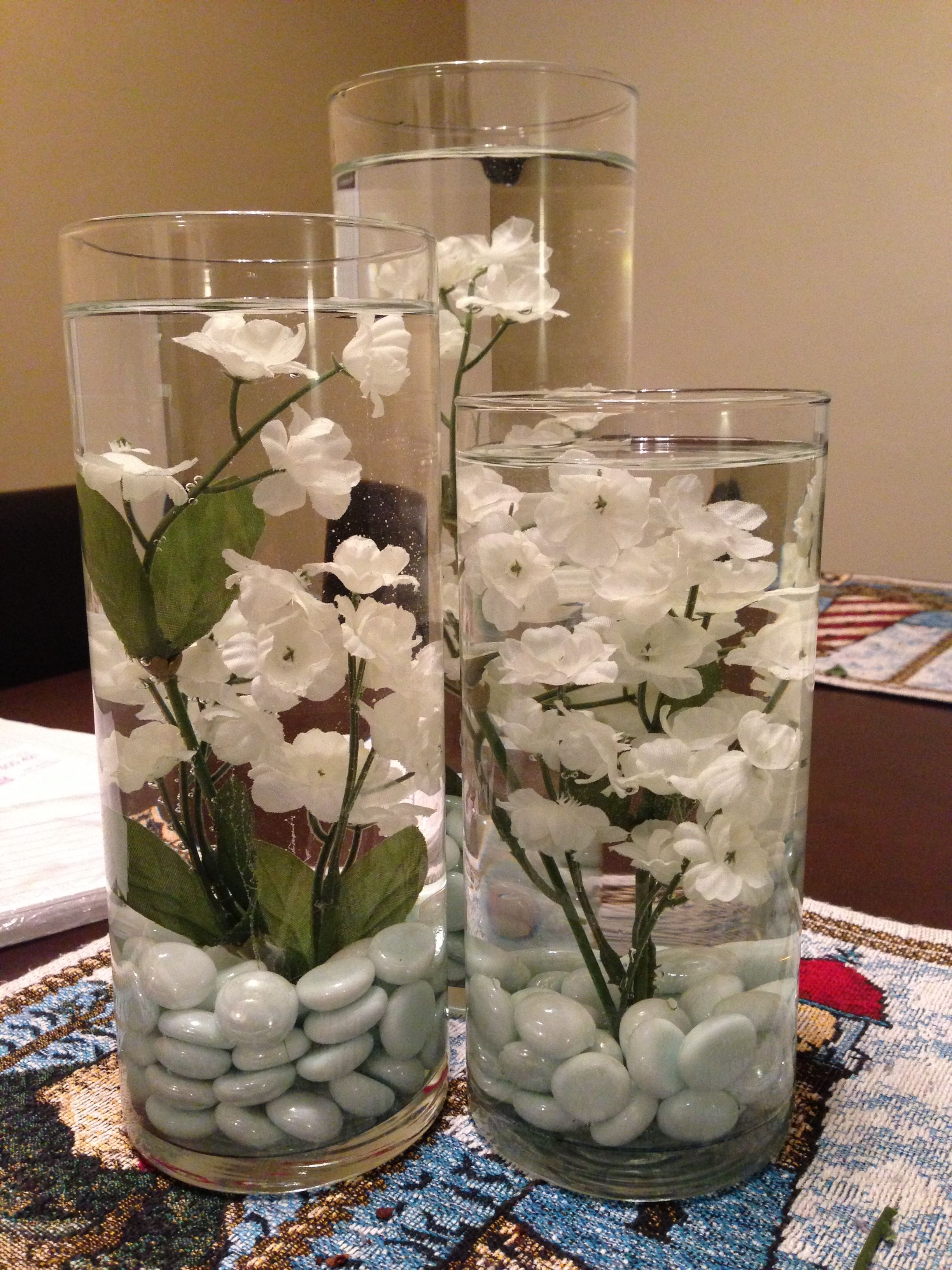 Diy dining table centerpiece it was so easy just got the for Candle dining room centerpieces