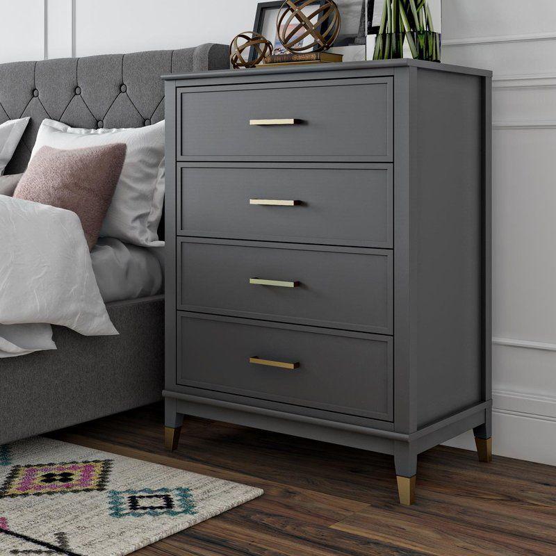 Best Westerleigh 4 Drawer Chest Upholstered Platform Bed 640 x 480
