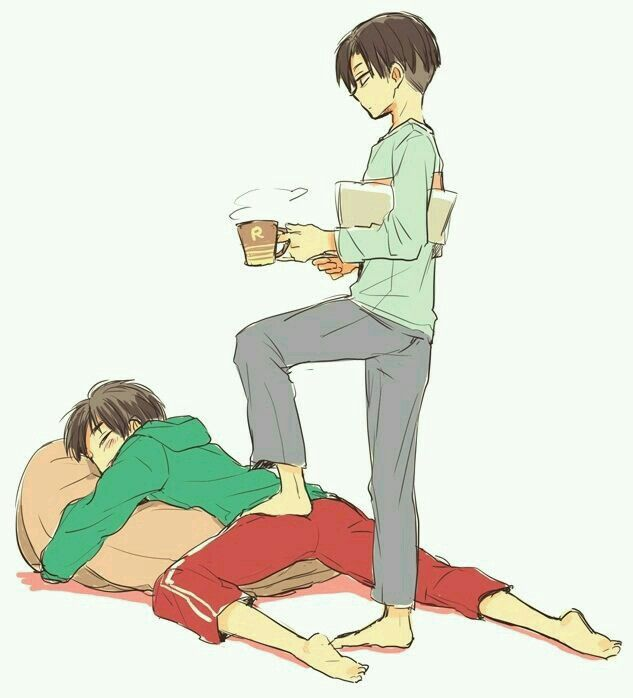 Levi: It's time for you to wake up asshole. Eren: No YOU'