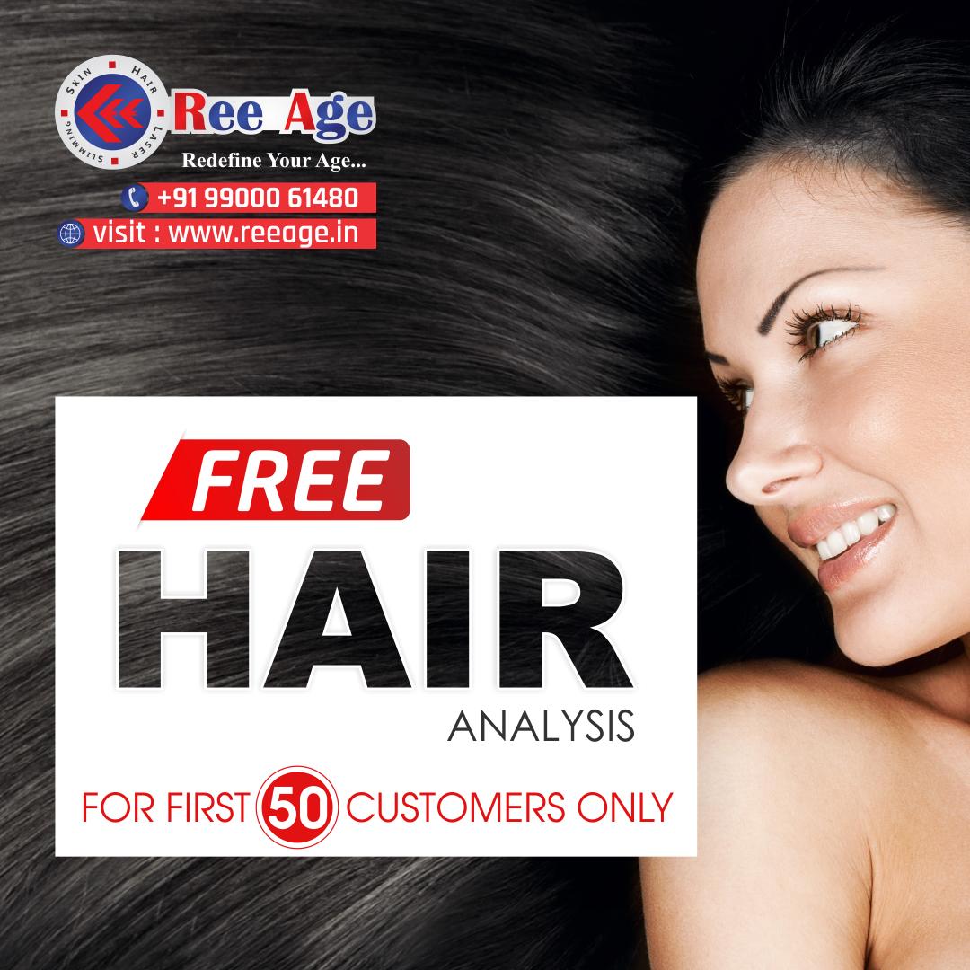 Free Hair Analysis! Get free Hair analysis at Reeage