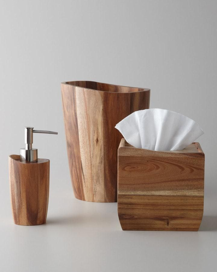 Kassatex Acacia Wood Vanity Accessories. Accessories crafted of acacia wood bring natural appeal to your bathroom decor. $ 20