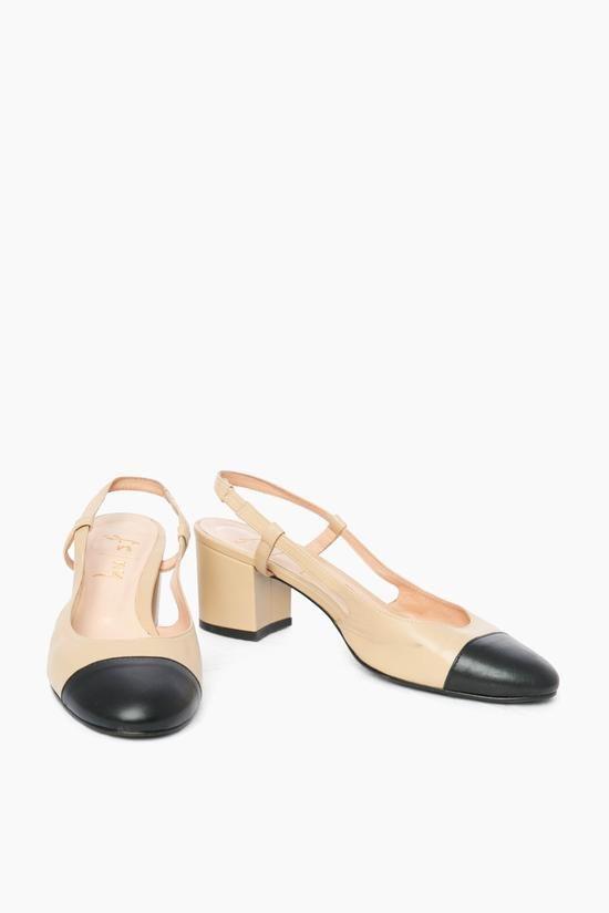 Baton Heels in Beige by French Sole