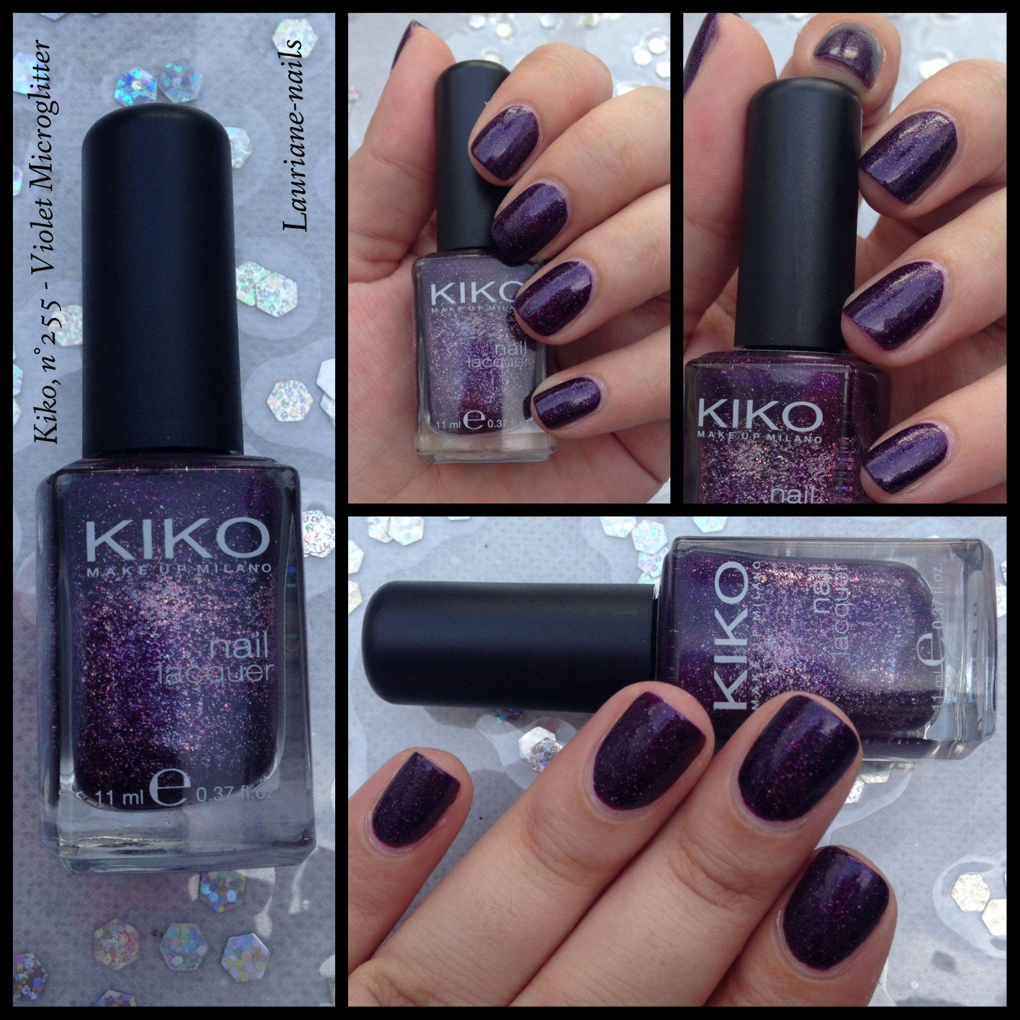 Kiko, n•255 - Violet Microglitter.