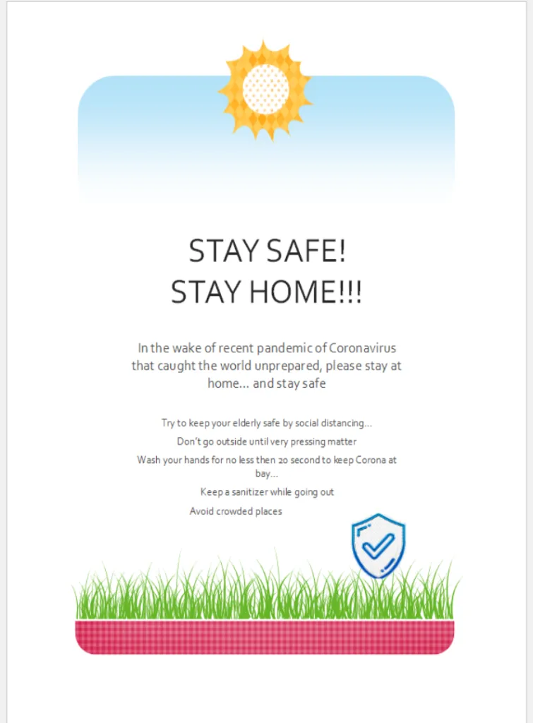 Stay Home Stay Safe Flyer Template Publisher Flyer
