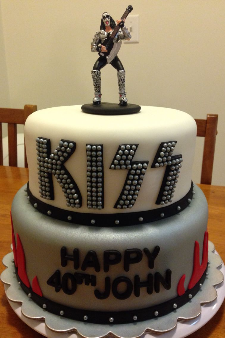 Kiss Band Birthday Cake With Gene Simmons Topper Sarah