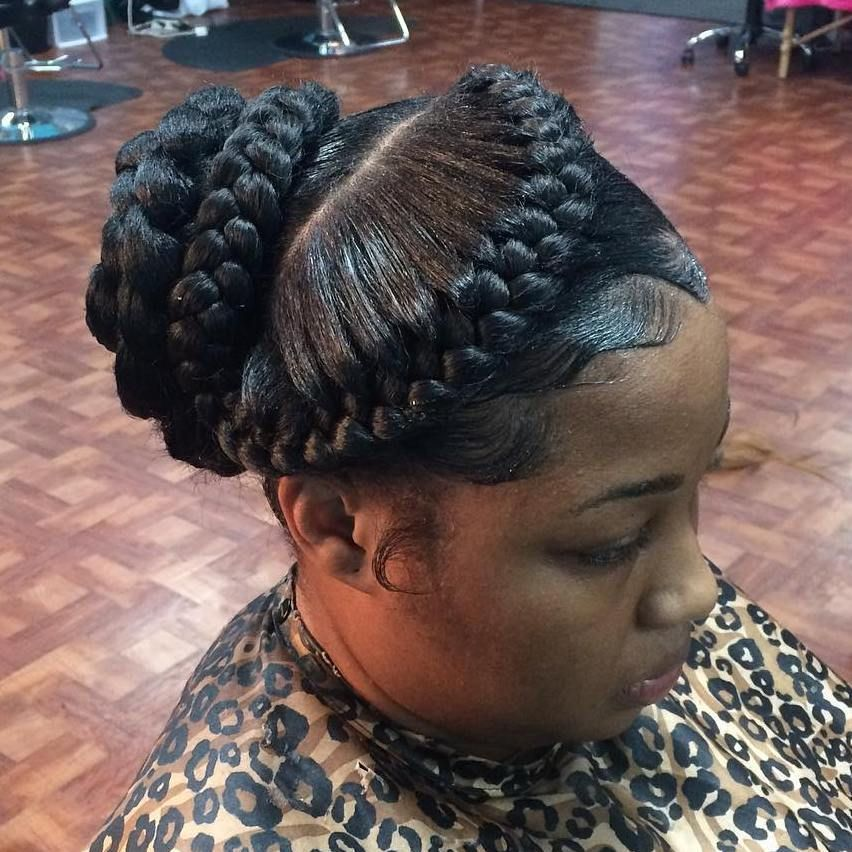 20 Under Braids Ideas to Disclose Your Natural Beauty | Bun updo ...