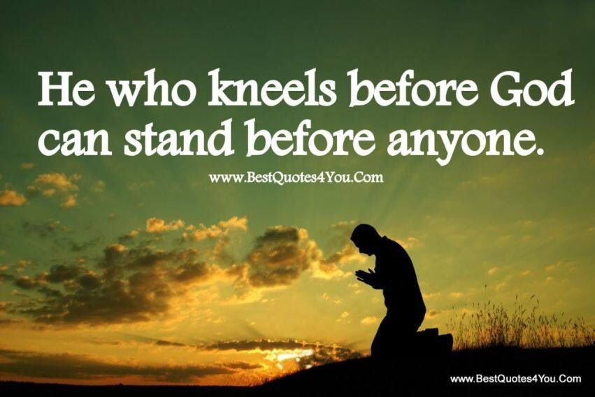Prayer helps me stand before anything in life | words to ...