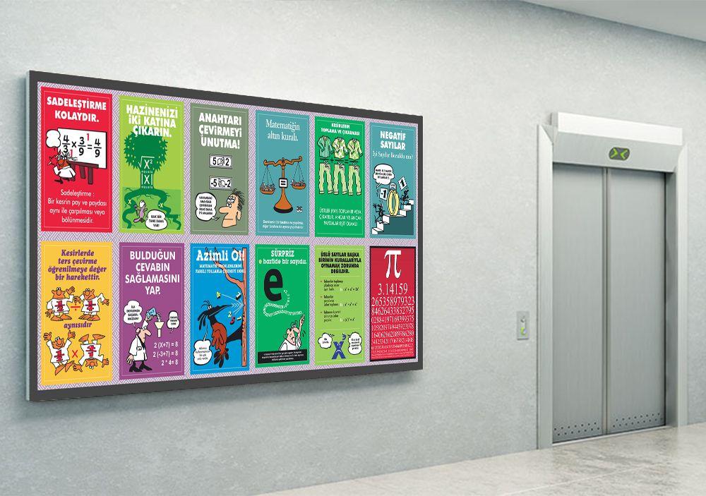Karikatürlerle Eğlenceli Matematik Matematik Posteri Nasıl