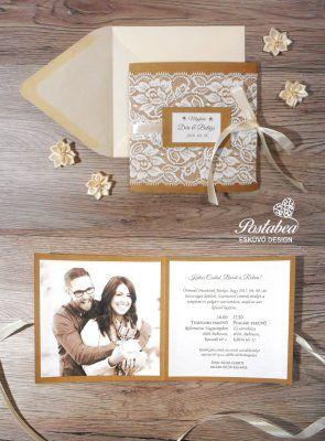 ce451281ee vintage esküvői meghívó csipkével | wedding | Wedding