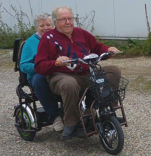 350w Heckantrieb Zweisitzer Reisemobil Klapprad Faltbar Dreirad Bis 25km H Elektroroller Elektroscooter Sondermodell 2017 Amazon De Sport Freizeit