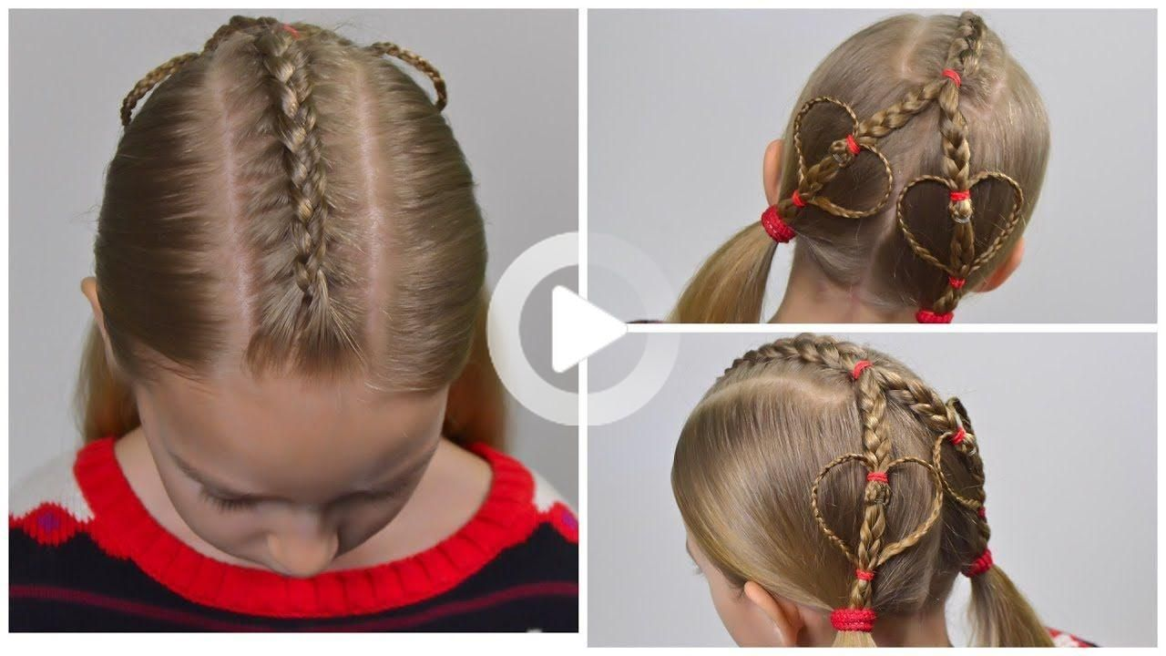 Accent Hearts Valentine S Day Hairstyle Quick And Easy Hairstyle For In 2020 Coiffure Rapide Coiffure Facile Coiffure