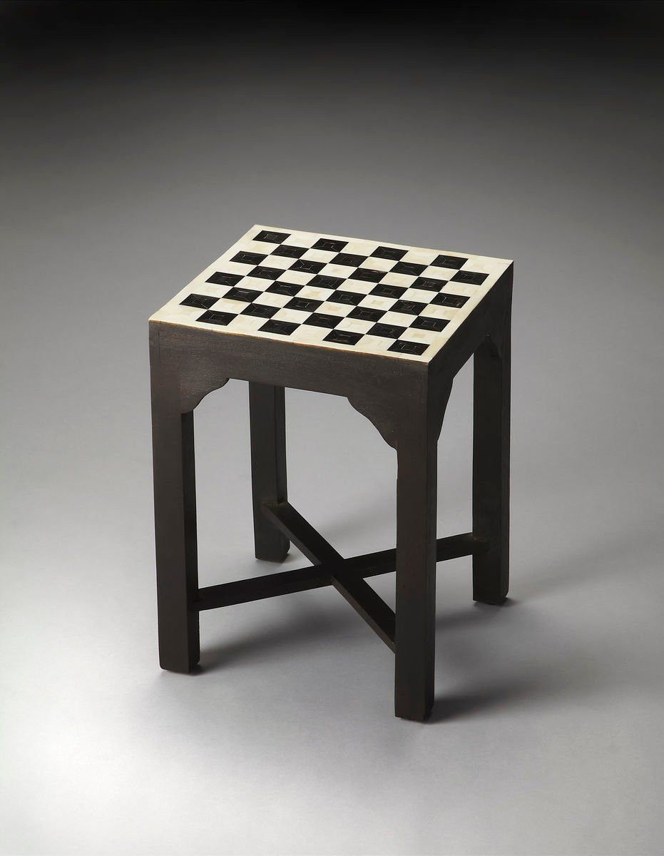 bishop transitional square bunching chess table multi-color | more