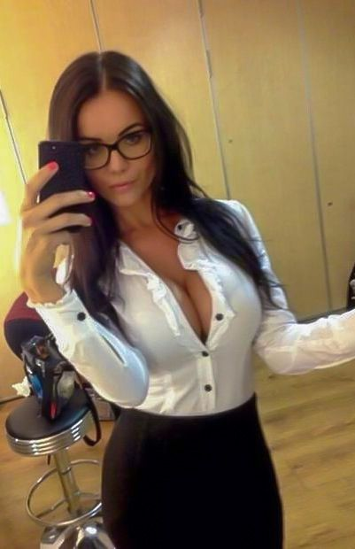 Sexy office selfies