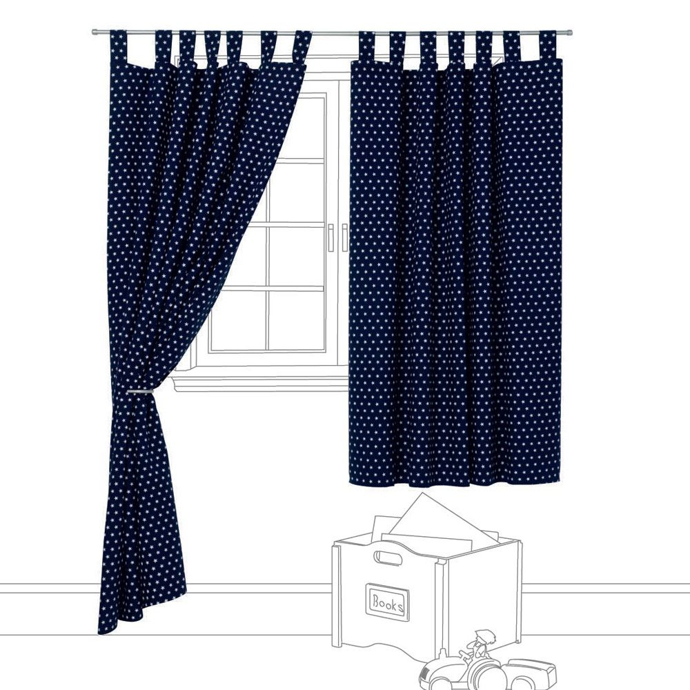 Navy Star Blackout Curtains Great Little Trading Company 65 75