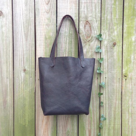 EVERYDAY TOTE in black bison leather by HattonHenry www.hattonhenry.com
