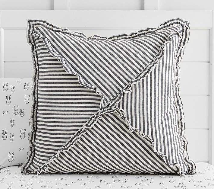 The Emily & Meritt Ruffle Stripe Quilt Striped quilt