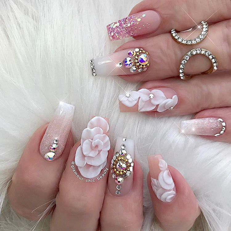 200 3d Nail Art That Will Help You Rock 2020 In 2020 Luxury Nails Nail Designs Beautiful Nails