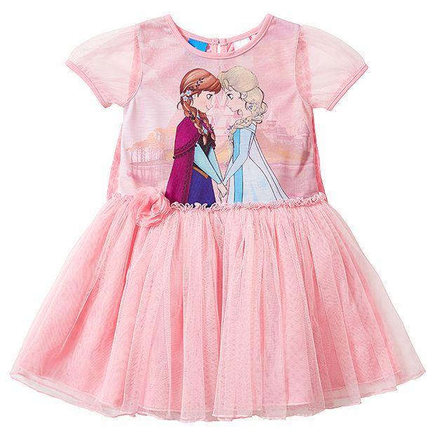 Disney Frozen Print Dress With Cape
