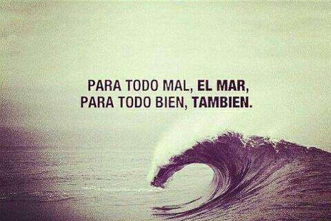 El mar ...