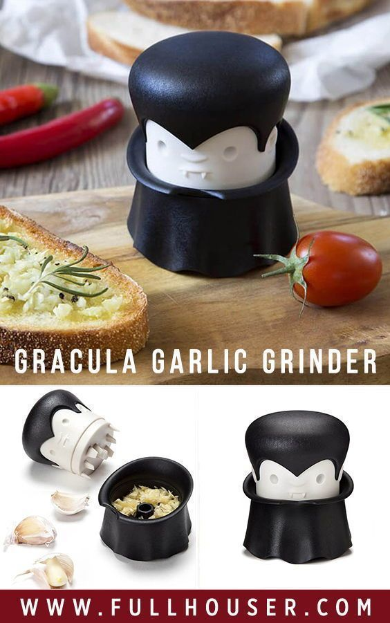 Gracula Garlic Grinder - Unique Kitchen Gadgets | Replace the lid and ... #gadgets…