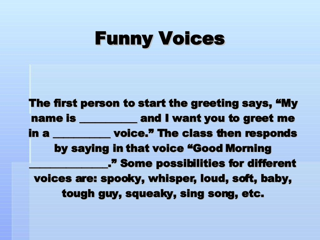 Morning meeting greetings funny voice greetings would be so much morning meeting greetings funny voice greetings would be so much fun m4hsunfo