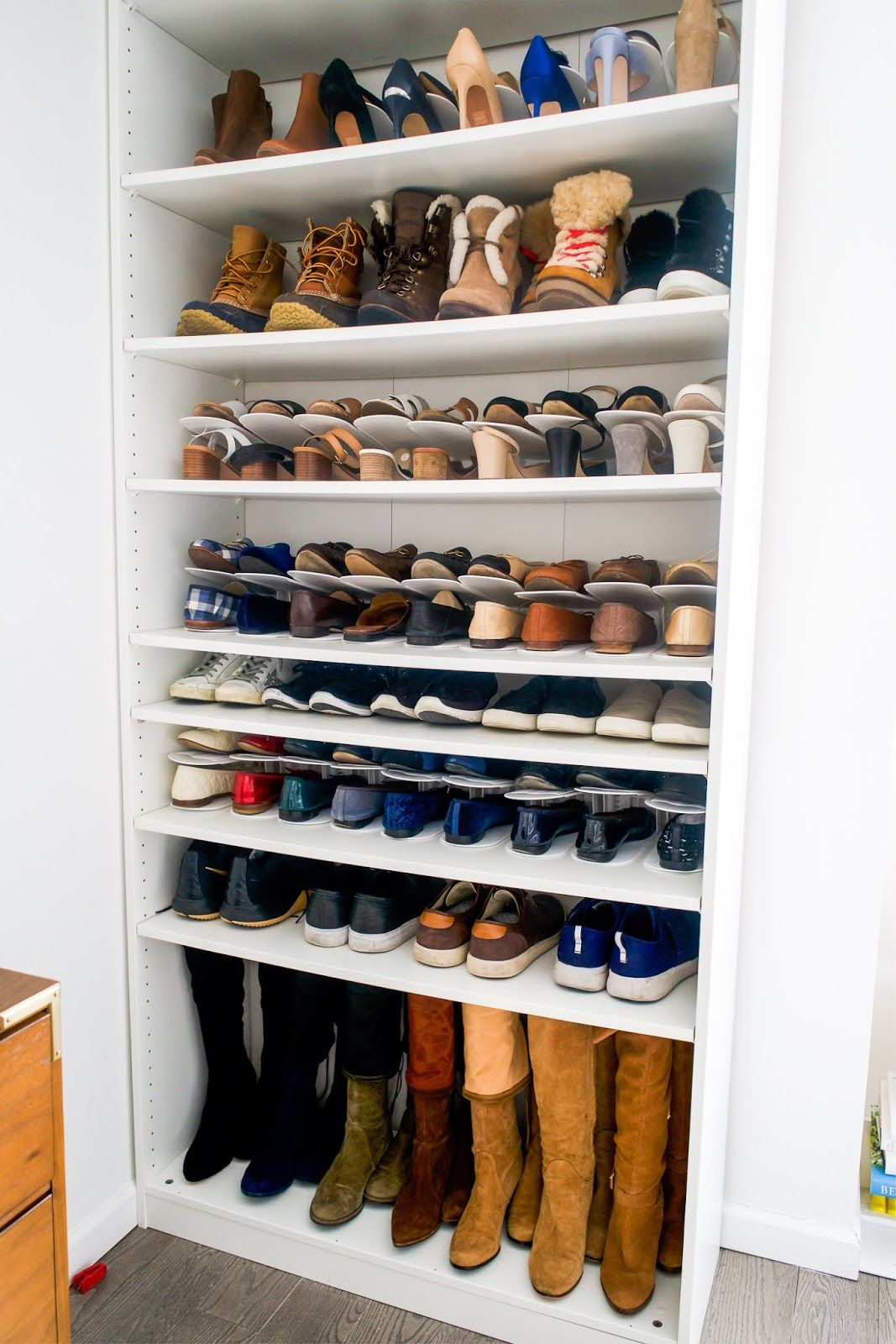 How I Store And Organize My Shoes Diy Shoe Rack Boot